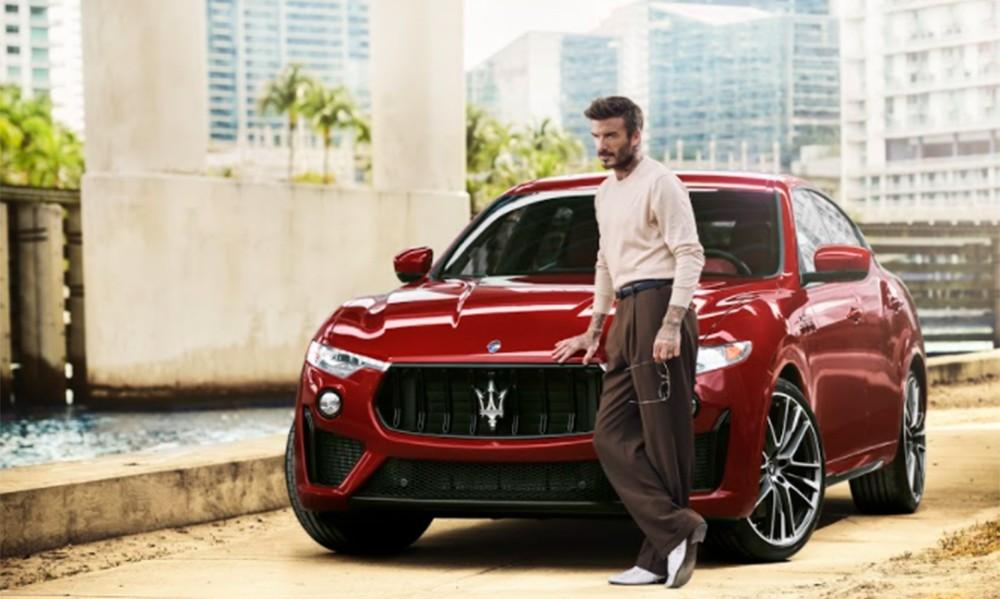 O David Beckham κάνει donuts  με τη Maserati Levante Trofeo (video)