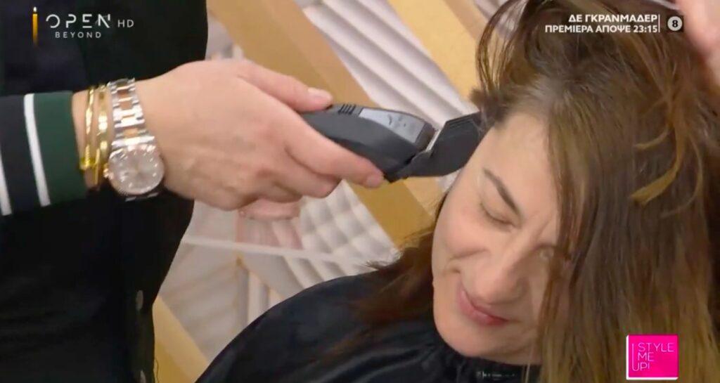 Σοκαρίστηκαν στο Style me up! Ο Τρύφωνας Σαμαράς ξύρισε τα μαλλιά παίκτριας (video)