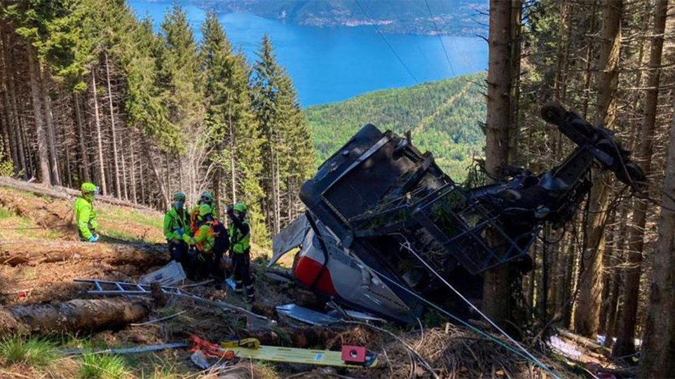 Πτώση τελεφερίκ στην Ιταλία: Στη δημοσιότητα βίντεο που δείχνει το  δυστύχημα με τους 14 νεκρούς