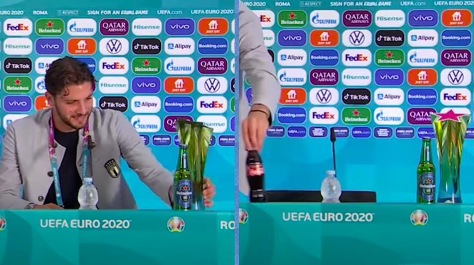 Μετά τους Ρονάλντο και Πογκμπά ο Λοκατέλι – Έκρυψε από μπροστά του τα μπουκάλια της Coca Cola (video)