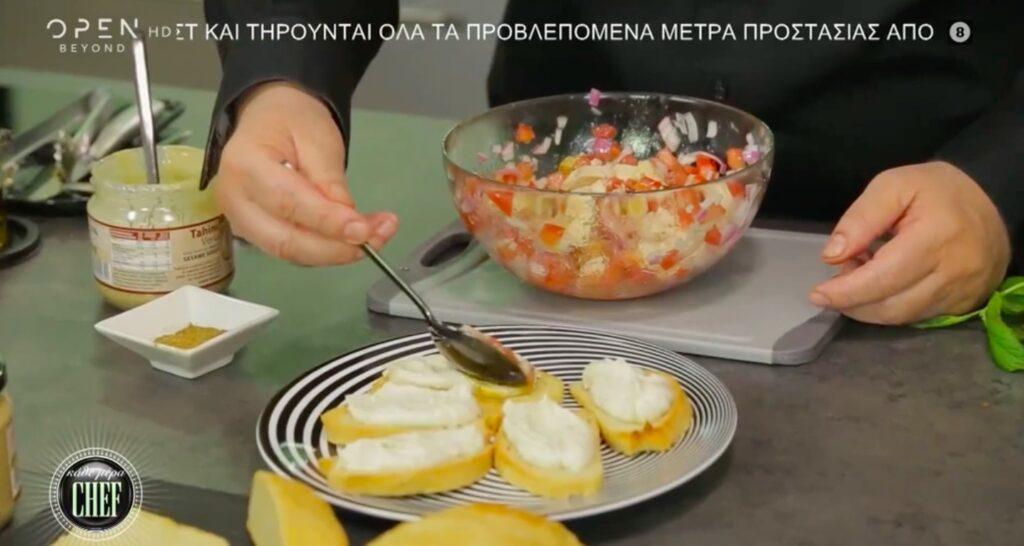 Συνταγή για ποικιλία από μπρουσκέτες από τον Βαγγέλη Δρίσκα! (video)
