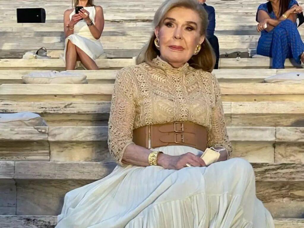 Mαριάννα Βαρδινογιάννη:  Εντυπωσιακή εμφάνιση στο show του Dior στο Καλλιμάρμαρο