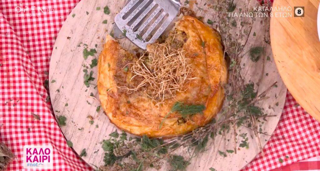 Συνταγή για στριφτή κρεατόπιτα με πράσα και άνηθο! [Βίντεο]