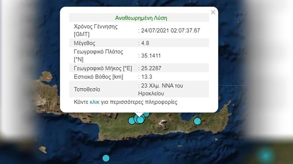 Σεισμός 4,8 Ρίχτερ στο Ηράκλειο Κρήτης-Τι λένε Λέκκας, Τσελέντης