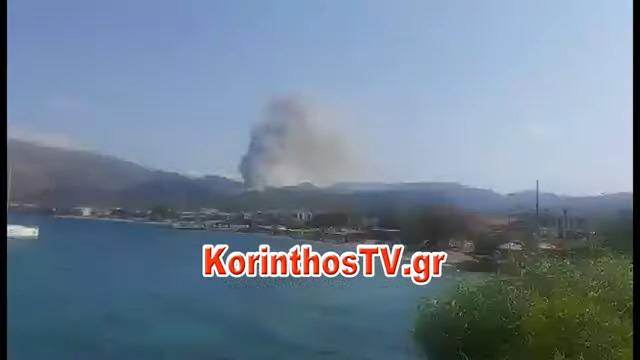 Μεγάλη φωτιά στην Αλμυρή Κορινθίας – Εκκενώθηκε οικισμός – Κλειστή η επαρχιακή οδός Ισθμού – Επιδαύρου (εικόνες&video)