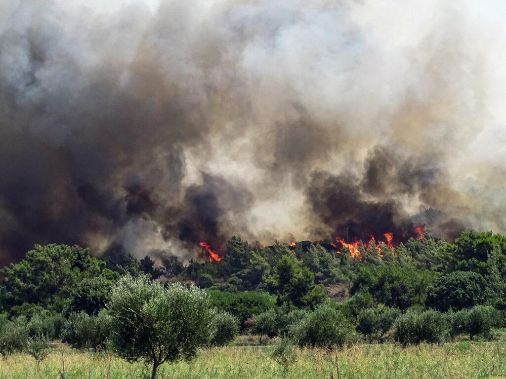 Φωτιά στη Ρόδο: Αίτημα για κατάσταση έκτακτης ανάγκης σε 7 από τις 10 Δημοτικές Ενότητες