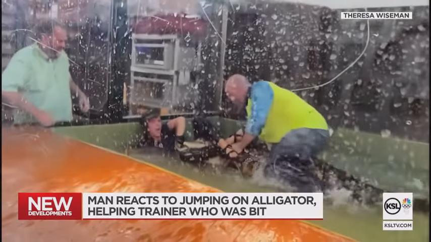Επισκέπτης ζωολογικού κήπου πήδηξε πάνω σε αλιγάτορα για να σώσει μια υπάλληλο (video)